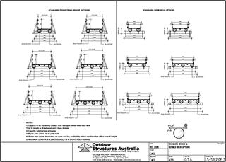 Pedestrian Log Bridges To 8 Metres Length From Outdoor