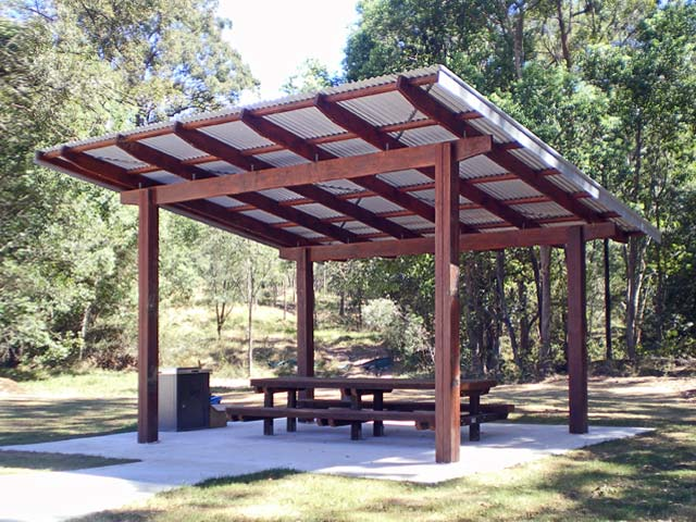 Timber park shelter shed designs from outdoor structures for Outdoor structures